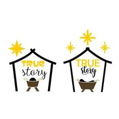 True Story Nativity Scene Cuttable Design - Available for FREE today only 12/08/17