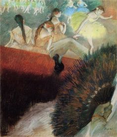 Edgar Degas -At the Ballet- WikiPaintings.org