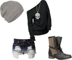 love this outfit <<< not really into those shoes those, I would of exchanged them for black and white hi topped converse Grunge Outfits, Punk Outfits, Tumblr Outfits, Casual Outfits, Fashion Outfits, Scene Outfits, 90s Grunge, Dark Fashion, Gothic Fashion