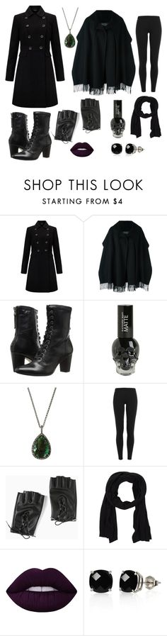 """Genderbend Severus Snape (for cosplay)"" by elmiraland ❤ liked on Polyvore featuring Miss Selfridge, Salvatore Ferragamo, Johnston & Murphy, Bavna, Polo Ralph Lauren, Torrid, Cappellificio RP, Lime Crime and Belk & Co."