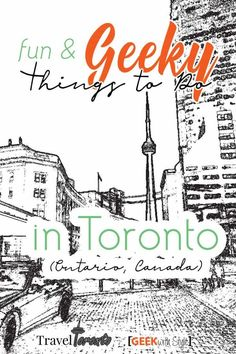 There is a ton of fun and geeky things to do in Toronto, Ontario! Check out what Geek with Style has so far. This list will be updated regularly. Ontario Travel, Toronto Travel, Toronto City, Travel With Kids, Family Travel, Stuff To Do, Things To Do, Geek Things, Visit Canada