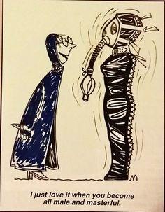 the masterful maid dominates slave femdom art