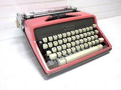Vintage Typewriter Pink Olympia SM 9 DeLuxe by GoodBonesVintageCo, $280.00