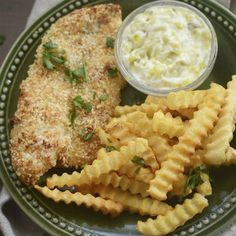 Air Fryer Fish and Chips Healthy - Recipe Diaries Air Fryer Dinner Recipes, Air Fryer Recipes, Small Air Fryer, Meal Prep Menu, Air Fryer Fish, Air Fryer Chicken Tenders, Actifry Recipes, Best Air Fryers, Air Fryer Healthy