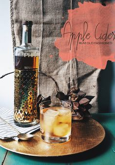 Happy Hour: Apple Cider Rum Old Fashioned