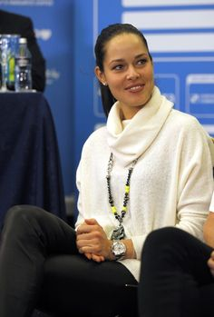 Ana Ivanovic at the draw ceremony of the Garanti Koza WTA Tournament Of Champions in Sofia, Bulgaria. #WTA  #Ivanovic #Sofia