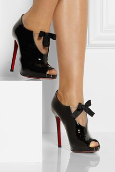 Christian louboutin Estanodo 120 Patentleather Ankle Boots in Black   Lyst