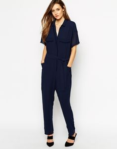 Whistles+Claribel+Jumpsuit+with+Frayed+Edge+Shirt+Detail