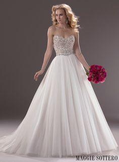 Maggie Sottero trouwjurk verkrijgbaar in onze winkel www.honeymoonshop.nl