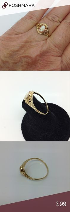 10k yellow gold, cameo fashion ring Gently used. Final markdown. See all photos.interesting in trading or making a best offer? My price is set in concrete and PoshMark discourages trades Jewelry Rings