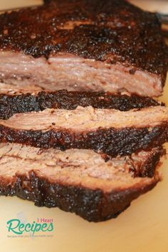 Tender super moist beef brisket made in the slow cooker, with amazing bark! I have a spring and summer friendly recipe that you all are going to love! I'm going to show you how I… (Paleo Slow Cooker Brisket) Crock Pot Slow Cooker, Crock Pot Cooking, Slow Cooker Recipes, Cooking Recipes, Crockpot Meals, Beef Brisket Recipes Crockpot, Smoker Cooking, Slow Cooker Brisket, Beef Brisket Slow Cooker