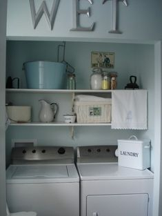Restyled Home eclectic laundry room