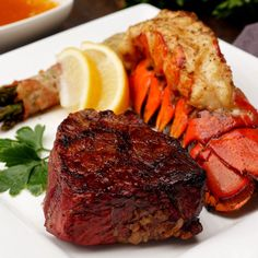 This recipe shows you how to smoke and sear a classic surf and turf dish using a Rider Pellet Grill Serve up top-shelf filet mignon and lobster tails with smoke flavor and a reverse sear to top it all off Oklahoma Joe s Pellet Grill Recipes, Grilling Recipes, Seafood Recipes, Cooking Recipes, Surf And Turf, Steak And Lobster Dinner, Lobster On The Grill, Bbq Lobster Tails, Cooking Frozen Lobster Tails