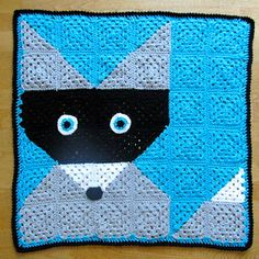 "Ravelry: LBK63's ""What Does the Raccoon Say?' Baby Blanket"