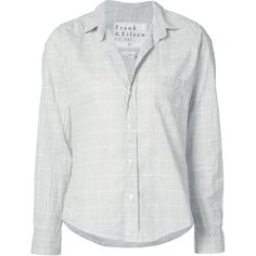 Frank & Eileen 'Barry fit' shirt ($185) ❤ liked on Polyvore featuring tops, grey, frank eileen shirts, grey shirt, cotton shirts, grey top and gray shirt