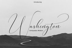 Washington Calligraphy Modern - Script NEW UPDATE ! It's an modern typeface. Washington Script, including swashes, ligatures,Alternate and International support for most Western Languages is included. Washington come with 462 glyphs Modern Typeface, Modern Script Font, Modern Fonts, Script Type, Calligraphy Fonts, Script Fonts, Modern Calligraphy, Handwritten Typography, Calligraphy Alphabet