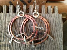 Copper and Serling Silver Earrings by julianamarquis on Etsy, $85.00