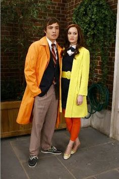 Chuck Bass and his orange trenchcoat