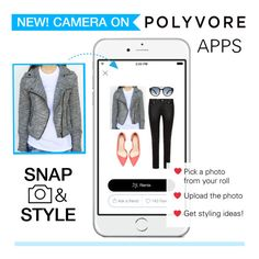 """New: Camera on Polyvore Apps!"" by polyvore ❤ liked on Polyvore featuring moda y PolyvoreCameraQ"