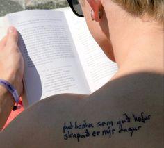 Get my Sigur Ros tattoo: Það Besta Sem Guð Hefur Skapað Er Nýr Dagur