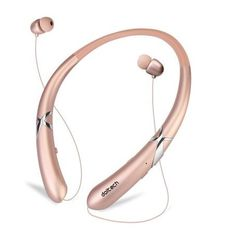 Bluetooth Headphones DolTech Retractable Earbuds Neckband Wireless Headset Sport Sweatproof Earphones with Mic for iPhone Android Cellphone (Rosegold) Wireless Headset, Bluetooth Headphones, Neckband Headphones, Wide Angle Lens, Tech Support, Dashcam, Night Vision, Cell Phone Accessories, Wifi
