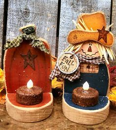 Wood Crafts To Sell Beautiful Ideas Rustic Wood Crafts, Fall Wood Crafts, Primitive Crafts, Thanksgiving Crafts, Holiday Crafts, Primitive Country, Christmas Gifts, Fall Halloween, Halloween Crafts