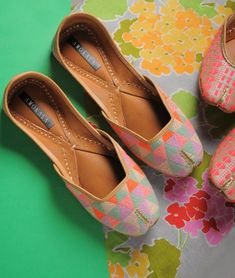 Buy For The Love Of Juttis Amokala Eclectic juttis in cotton, jacquard, leather to pair with Indian and western ensembles Online at Jaypore.com