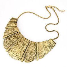 Memorial Gold Color Fanshaped Pendant Alloy Korean Necklaces