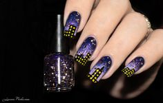 Nail Art City By Night - Twineternail