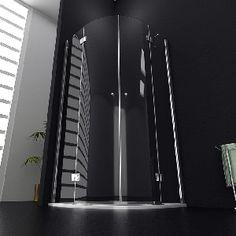 Echtglas Rund Dusche Duschkabine Duschabtrennung aus Sicherheitsglas (ESG)
