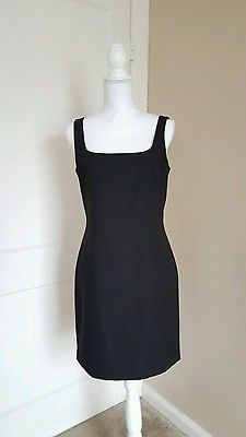 LAUNDRY by Shelli Segal Black Square Neckline Dress Size 10