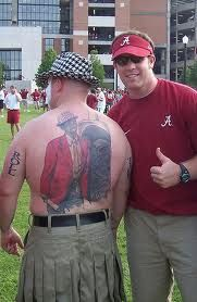 Totally met this guy..A TRUE alabama fan!!