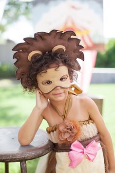 Brave Lil' Lion Costume Accessories Lion Mask by SweetsByEj, $10.95