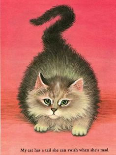 Vintage 1960's Child's Picture Book Animal Ilustration