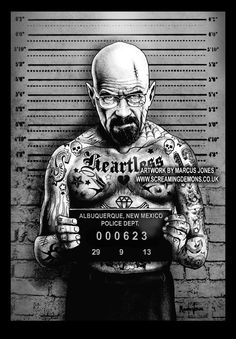 Walter White – from 'Breaking Bad' mugshot by Marcus Jones