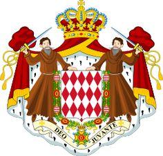 Brasão de armas de Mônaco. Coat of arms of Monaco.