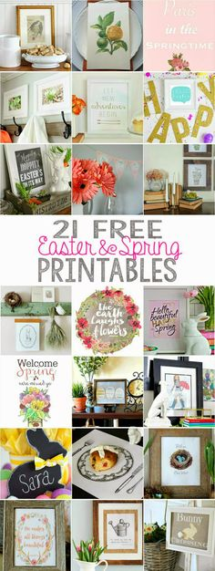 A collection of 21 free spring printables!