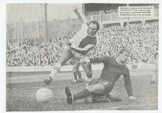 Blackburn 2 Stockport Co 0 in Jan 1969 at Ewood Park. Jim Fryatt shoots for goal in the FA Cup 3rd Round.