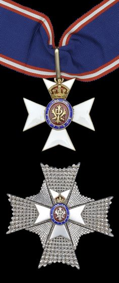 K.C.V.O., Knight Commander's neck badge and breast star, both pieces officially numbered 'K632' and '632' respectively, complete with neck cravat in its numbered Collingwood case of issue, awarded to Paymaster Commander Sir Dudley Colles, Royal Navy, Deputy Treasurer to King George VI and Queen Elizabeth, and Assistant Keeper of the Privy Purse.