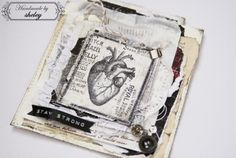 """Scrapbook card """"Oh, you, a little heart, please stay strong, you're very important ..."""""""