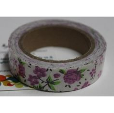 Buy White with pink flowers decorative tape/Adhesive for any use by undefined, on Paytm, Price: Rs.125?utm_medium=pintrest