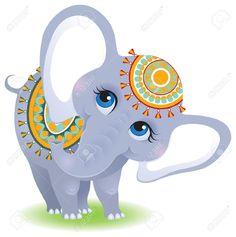 Illustration of Indian elephant vector art, clipart and stock vectors. Indian Elephant, Elephant Love, Elephant Design, Elephant Images, Cartoon Elephant, Elephant Drawings, Zebra Cartoon, Elephant Artwork, Elefante Doodle