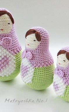 New pattern in my Ravelry store, Ela the matryoshka doll! Nesting dolls, Babushka doll, Amigurumi doll pattern.