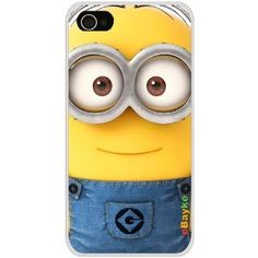 4GDCM-11W iPhone 4S 4G iPhone4 At Sprint Verizon Funny Cartoon Despicable Me Minions Hard Case Cover with eBayke Logo