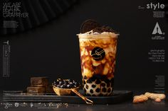 黑研舍 chinese style Of bubble milk tea Bubble Tea Menu, Bubble Drink, Bubble Tea Shop, Bubble Milk Tea, Drinks Alcohol Recipes, Tea Recipes, Cafe Menu Design, Social Design, Boba Drink