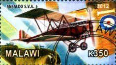 Stamp: Ansaldo S.V.A.5 (Cinderellas) (Malawi) Col:MW 2012-15/3