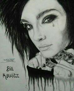 Bill kaulitz #tokiohotel  Dibujo a lápiz carbón