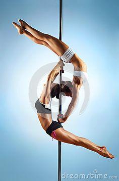 Pole Dance Women Stock Photos - Image: 26971323