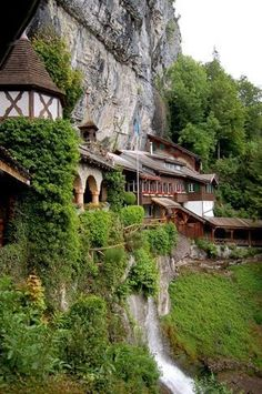 Entrance to St. Beatus Caves - Interlaken, Switzerland // Travel // Wanderlust // Switzerland Travel // World Traveler Places Around The World, Oh The Places You'll Go, Places To Travel, Places To Visit, Around The Worlds, Dream Vacations, Vacation Spots, Wonderful Places, Beautiful Places
