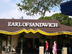 Famous Holiday Sandwich at Earl of Sandwich in Downtown Disney